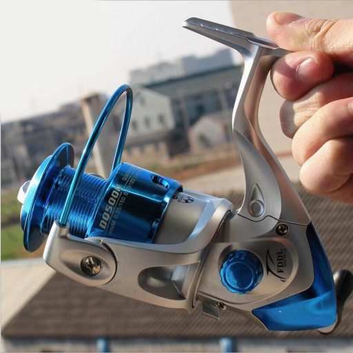 Fishing Professional Spinning Reel; 6 Bb; Non-Slip Knob;Blue Available,-Spinning Reels-SUPERFISH Store-2000 Series-Bargain Bait Box