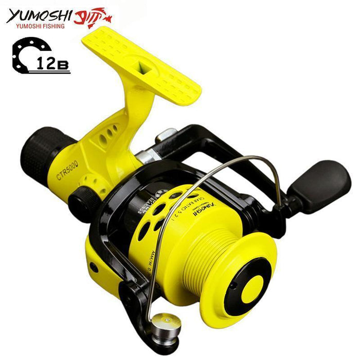 Fishing Reel 12Bb Rear Brake Wheel Collapsible Left/Right Interchangeable Arm-HUDA Outdoor Equipment Store-2000 Series-Bargain Bait Box
