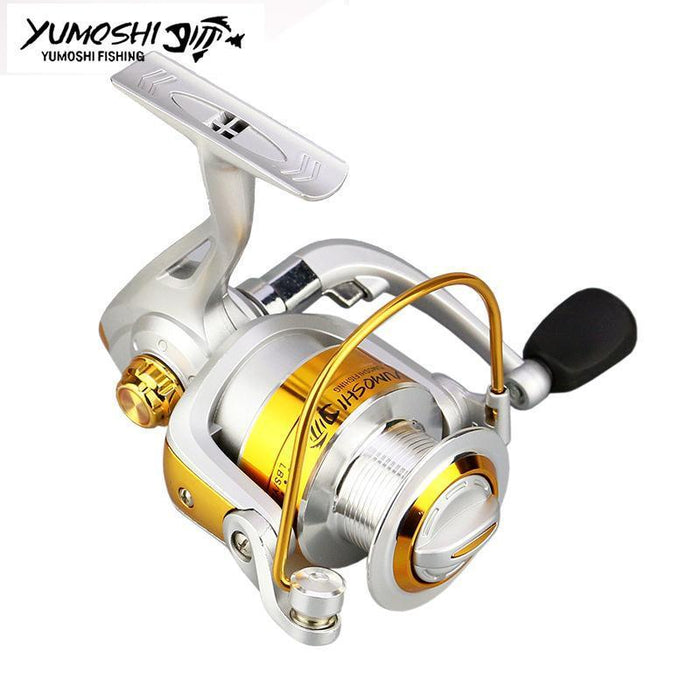 Fishing Reel Metal Spool Gear Ratio 5.5:1 Spinning Fishing Reel 12Ball Bearing-Spinning Reels-HUDA Sky Outdoor Equipment Store-1000 Series-Bargain Bait Box
