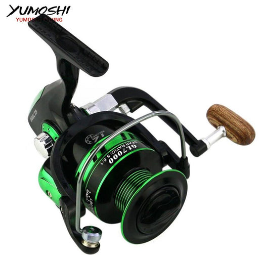 Fishing Reels 12Bb 5.5:1 Full Metal Spool Baitcasting Reel Spinning Reels-Fishing Reels-HUDA Sky Outdoor Equipment Store-Silver-1000 Series-Bargain Bait Box