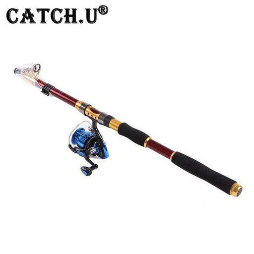 Fishing Rod And Reel Set Rod Combo Carbon Telescopic Fishing Rod And Spinning-Telescoping Fishing Rods-Bargain Bait Box-2.1 m-Bargain Bait Box