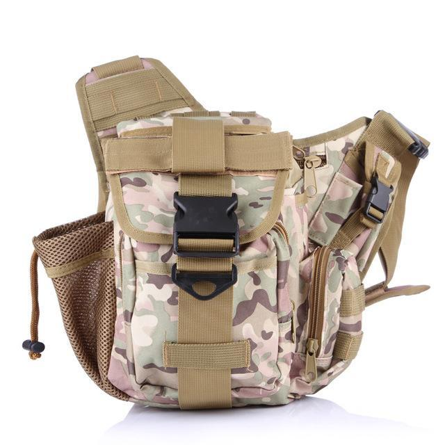 Fishing Saddlebag Fishing Tackle Multi Functional Waistbag Shoulder Bag-Tackle Bags-Bargain Bait Box-CP Camo-Bargain Bait Box
