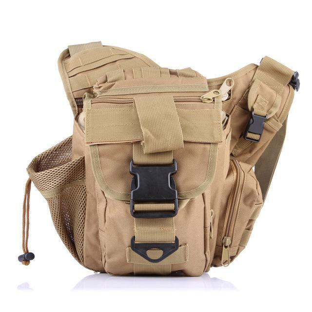 Fishing Saddlebag Fishing Tackle Multi Functional Waistbag Shoulder Bag-Tackle Bags-Bargain Bait Box-Khaki-Bargain Bait Box