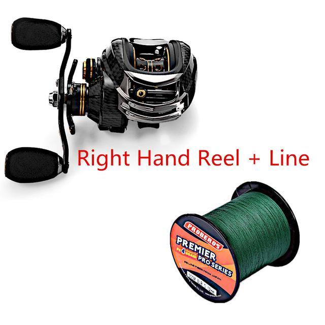 Fishing Set With Fishdrops Lb200 Fishing Reel + Fishing Line + Baitcasting-Outl1fe Adventure Store-Right and Line-Bargain Bait Box