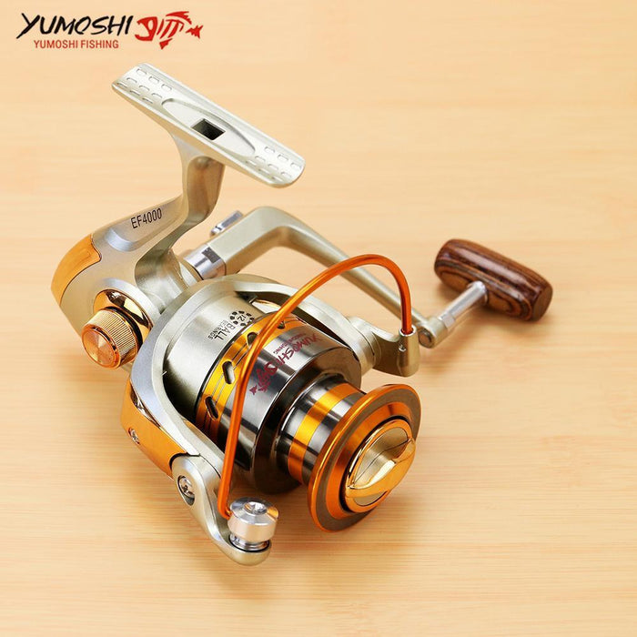 Fishing Spinning Reel Metal Spool 12Bb Left/Right Interchangeable 500-9000-Spinning Reels-HUDA Sky Outdoor Equipment Store-1000 Series-Bargain Bait Box