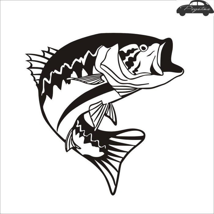 Fishing Sticker Fish Bass Decal Angling Hooks Posters Vinyl Wall Decals Hunter-Fishing Decals-Bargain Bait Box-Pink-10x10cm-Bargain Bait Box
