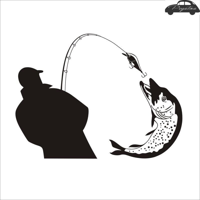 Fishing Sticker Fish Decal Muurstickers Posters Vinyl Wall Decals Pegatina Decor-Fishing Decals-Bargain Bait Box-Pink-58x77cm-Bargain Bait Box
