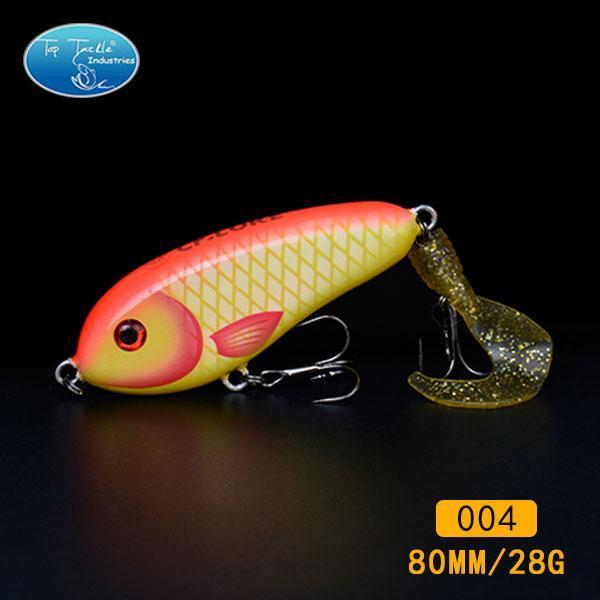 Fishing Tackle Wholesale Fishing Lure Jerk Bait Little Darling (80Mm 28G)-With-TOP TACKLE INDUSTRIES-80mm soft tail 004-Bargain Bait Box