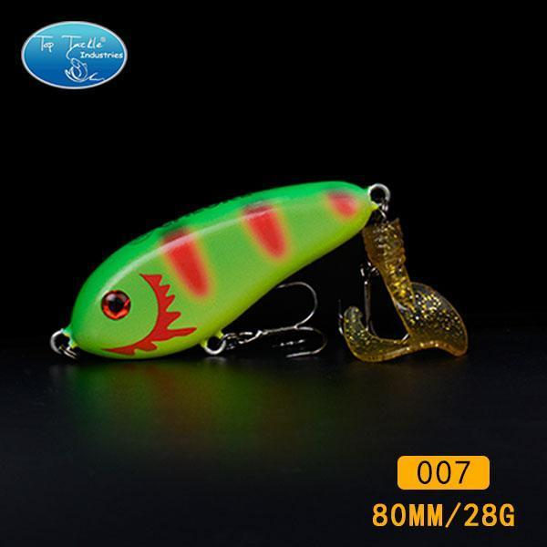 Fishing Tackle Wholesale Fishing Lure Jerk Bait Little Darling (80Mm 28G)-With-TOP TACKLE INDUSTRIES-80mm soft tail 007-Bargain Bait Box