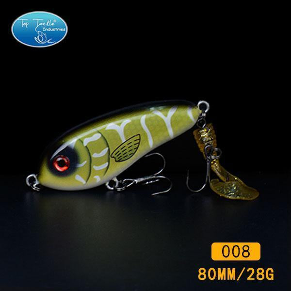 Fishing Tackle Wholesale Fishing Lure Jerk Bait Little Darling (80Mm 28G)-With-TOP TACKLE INDUSTRIES-80mm soft tail 008-Bargain Bait Box