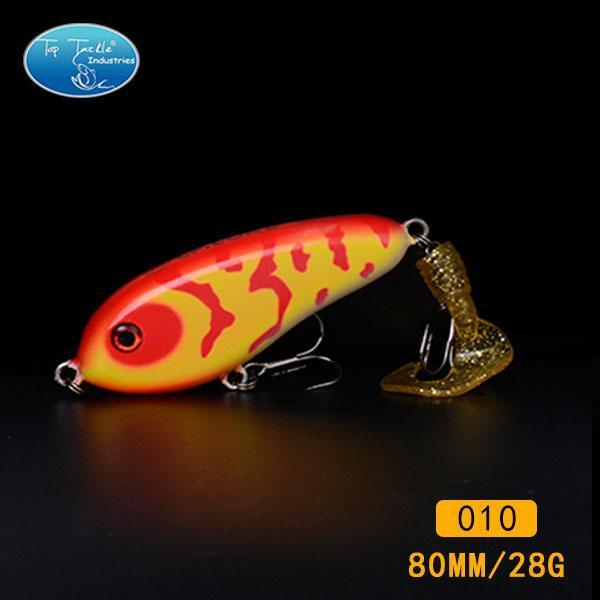 Fishing Tackle Wholesale Fishing Lure Jerk Bait Little Darling (80Mm 28G)-With-TOP TACKLE INDUSTRIES-80mm soft tail 010-Bargain Bait Box