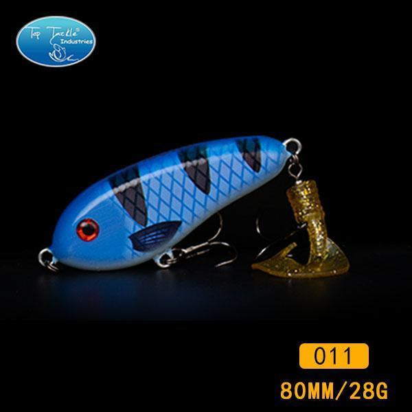 Fishing Tackle Wholesale Fishing Lure Jerk Bait Little Darling (80Mm 28G)-With-TOP TACKLE INDUSTRIES-80mm soft tail 011-Bargain Bait Box