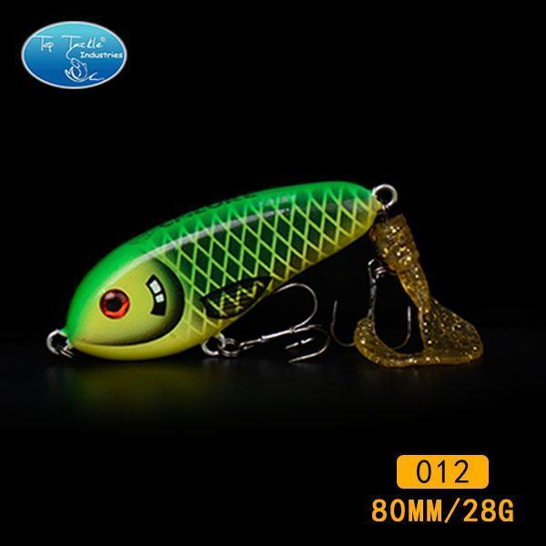 Fishing Tackle Wholesale Fishing Lure Jerk Bait Little Darling (80Mm 28G)-With-TOP TACKLE INDUSTRIES-80mm soft tail 012-Bargain Bait Box