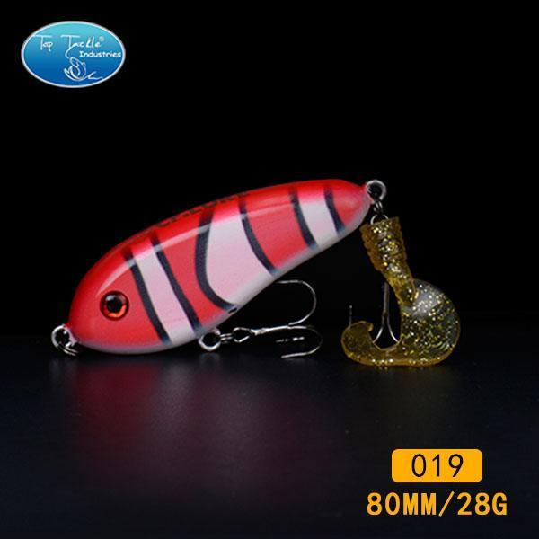 Fishing Tackle Wholesale Fishing Lure Jerk Bait Little Darling (80Mm 28G)-With-TOP TACKLE INDUSTRIES-80mm soft tail 019-Bargain Bait Box