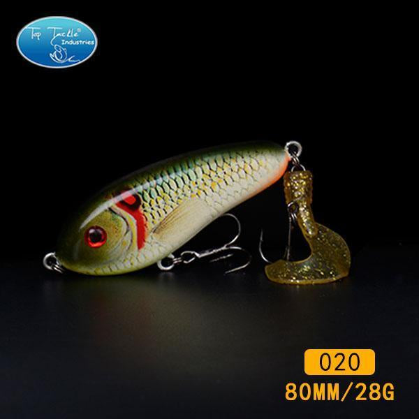 Fishing Tackle Wholesale Fishing Lure Jerk Bait Little Darling (80Mm 28G)-With-TOP TACKLE INDUSTRIES-80mm soft tail 020-Bargain Bait Box