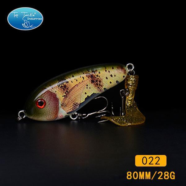 Fishing Tackle Wholesale Fishing Lure Jerk Bait Little Darling (80Mm 28G)-With-TOP TACKLE INDUSTRIES-80mm soft tail 022-Bargain Bait Box