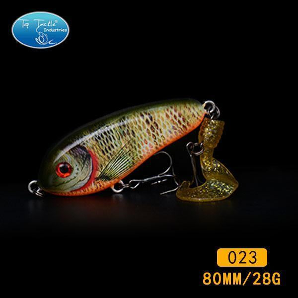 Fishing Tackle Wholesale Fishing Lure Jerk Bait Little Darling (80Mm 28G)-With-TOP TACKLE INDUSTRIES-80mm soft tail 023-Bargain Bait Box