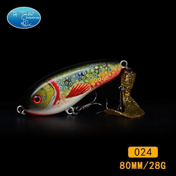 Fishing Tackle Wholesale Fishing Lure Jerk Bait Little Darling (80Mm 28G)-With-TOP TACKLE INDUSTRIES-80mm soft tail 024-Bargain Bait Box