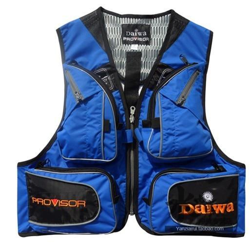 Fishing Vest Mens Outdoor Multi Pocket Fishing Clothes Male Vest-Fishing Vests-Lifesaving house Store-Blue-S-Bargain Bait Box