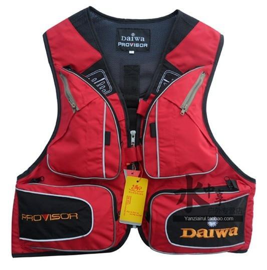 Fishing Vest Mens Outdoor Multi Pocket Fishing Clothes Male Vest-Fishing Vests-Lifesaving house Store-Red-S-Bargain Bait Box