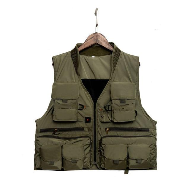 Fishing Vest Quick Dry Breathable Material-Fishing Vests-NV Bike Store-Army Green-L-Bargain Bait Box