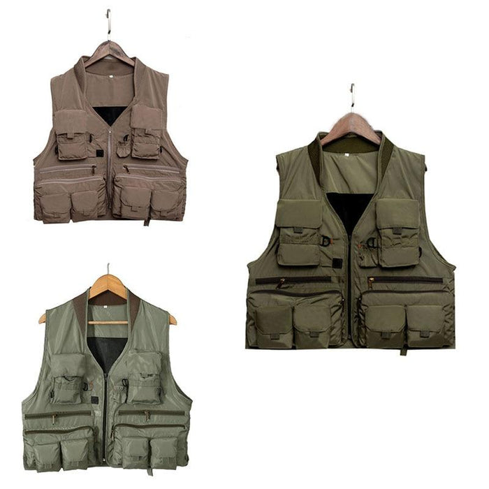 Fishing Vest Quick Dry Breathable Material-Fishing Vests-NV Bike Store-Green-L-Bargain Bait Box