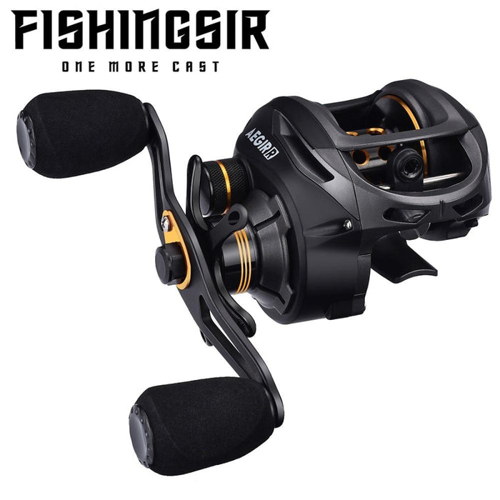 Fishingsir Baitcasting Fishing Reel 17.6Lb Carbon Fiber Drag 9+1 Bearing-Fishing Reels-FISHINGSIR Official Store-Left Hand-Bargain Bait Box