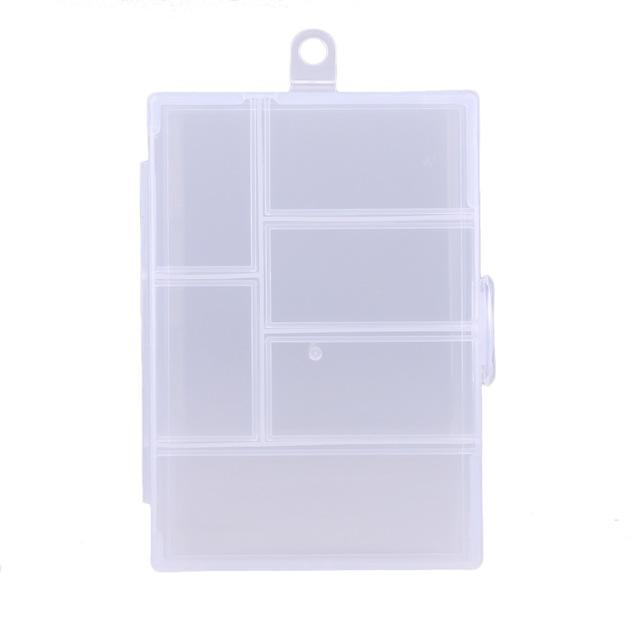 Fixable 6 Compartment Plastic Storage Box Holder Container Lure Case