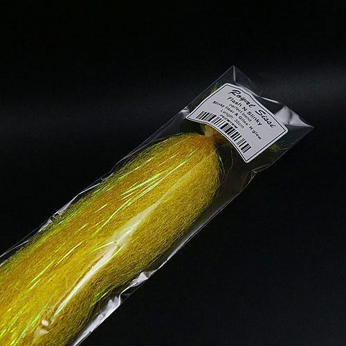 Fly Fishing Tying Synthetic Material Flash N Slinky Fiber Long Shimmer Hair-Royal Sissi Franchised Store-Yellow-Bargain Bait Box