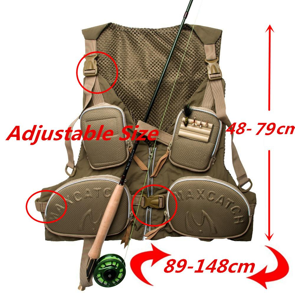 Fly Fishing Vest Adjustable Size Fly Fishing Jacket-Fishing Vests-Bargain Bait Box-Bargain Bait Box