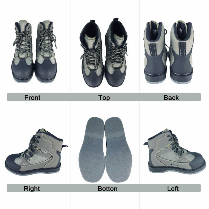 Fly Fishing Wading Shoes Aqua Sneakers Rock Sports Felt Sole Boots No Slip-Fishing Waders-JEERKOOL Official Store-41-China-Bargain Bait Box