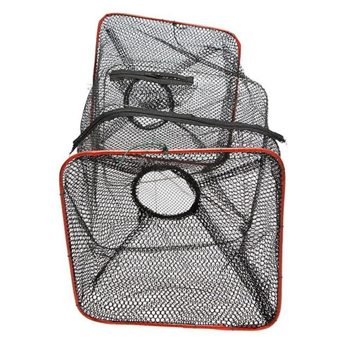 Folding Cage Metal Frame Nylon Mesh Crab Crawdad Shrimp Minnow Bait Trap Cast-Fishing Traps-Bargain Bait Box-Bargain Bait Box
