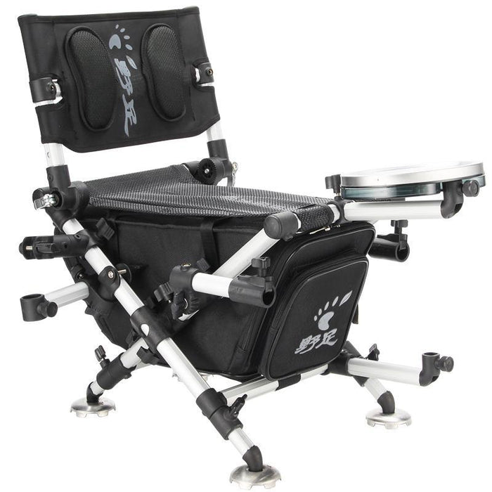 Folding Fishing Chair Portable Fishing Stool With Retractable Feet-shopping make you happy-Rice White-Bargain Bait Box