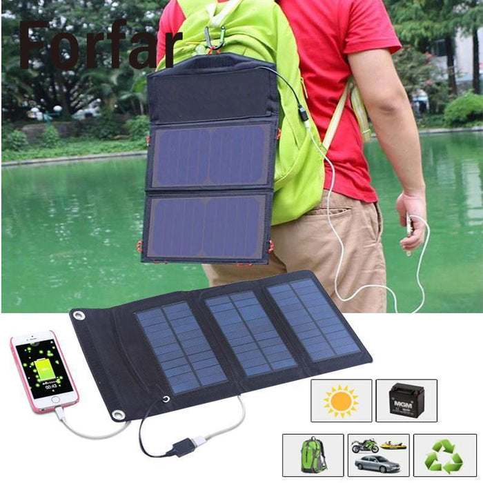 Forfar 5W Foldable Solar Panel Battery Charger Usb Power Bank For Cellphone-Inner beauty always-Bargain Bait Box