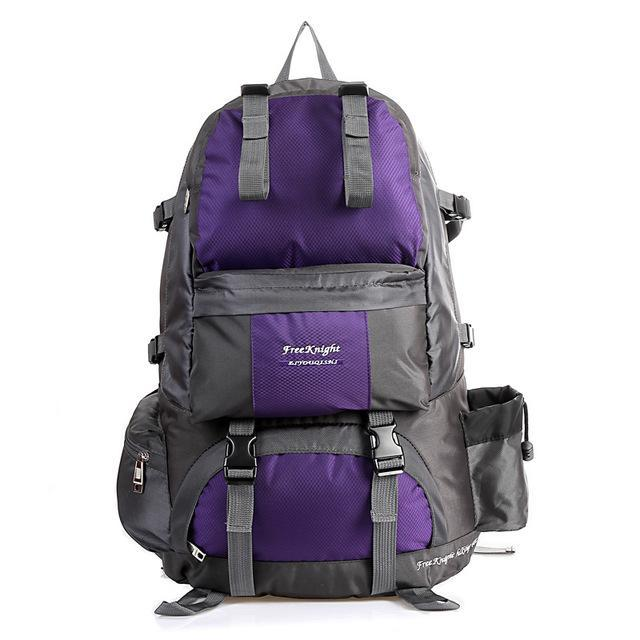 Free Knight Hiking Backpack 50L Waterproof Sports Bag Big Capacity Outdoor-Style Me Fitness Sport-Purple-Bargain Bait Box