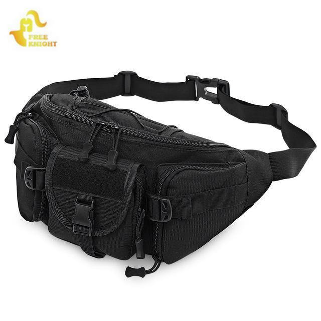 11edd694a84f Free Knight Waterproof Tactical Molle Bag Waist Fanny Pack Hiking Fishing  Sports