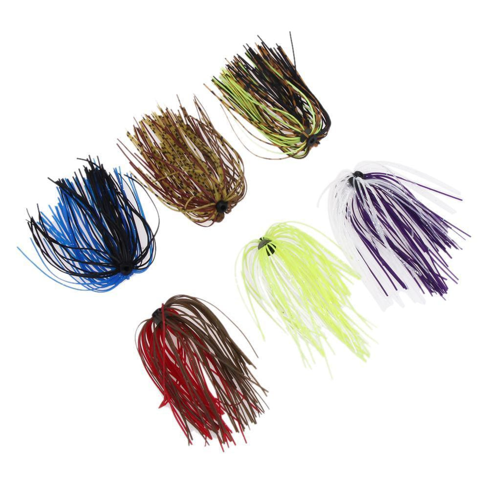Freeship Soft Fishing Lure Baits Silicone Skirts 6 Bundles Diy Salty Rubber-Sportsknowledge Store-Bargain Bait Box