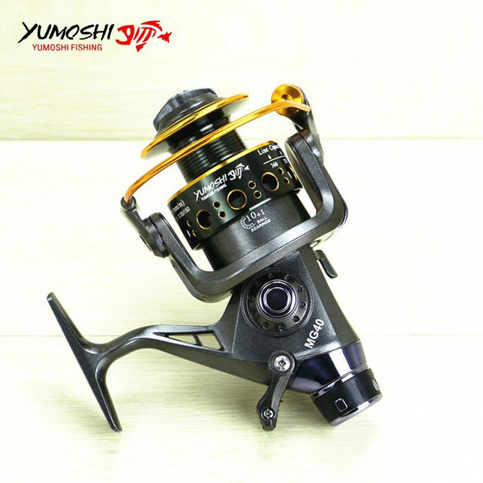 Front/Back Brake Wheel Right/Left Hand Interchangeable Aluminum Spinning Reel-Spinning Reels-HD Outdoor Equipment Store-5000 Series-Bargain Bait Box