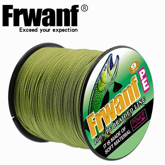 Frwanf 100M 109Yards 9 Strands Japan Multifilament Pe Braided Fishing Line-Frwanf Official Store-Army Green-1.5-Bargain Bait Box