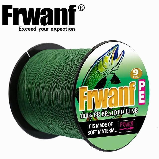 Frwanf 100M 109Yards 9 Strands Japan Multifilament Pe Braided Fishing Line-Frwanf Official Store-Blackish Green-1.5-Bargain Bait Box