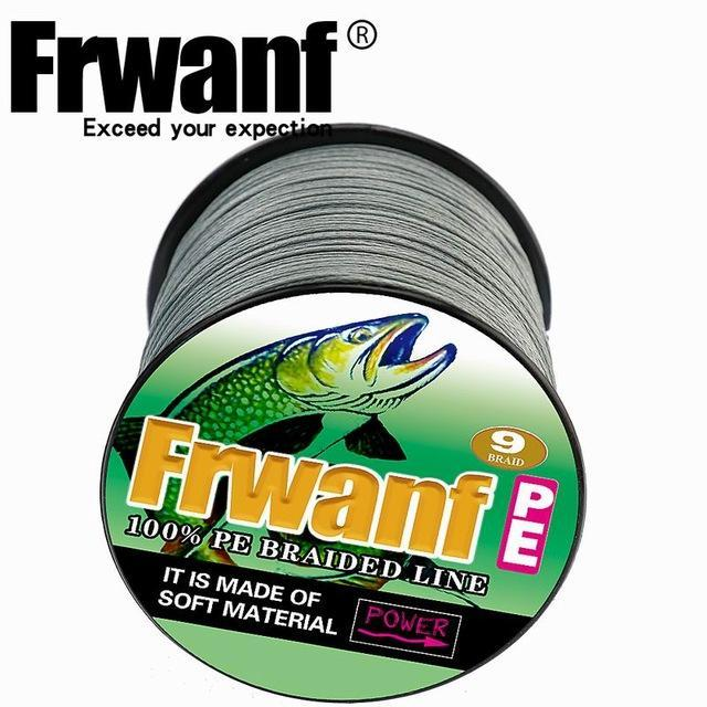 Frwanf 100M 109Yards 9 Strands Japan Multifilament Pe Braided Fishing Line-Frwanf Official Store-Grey-1.5-Bargain Bait Box