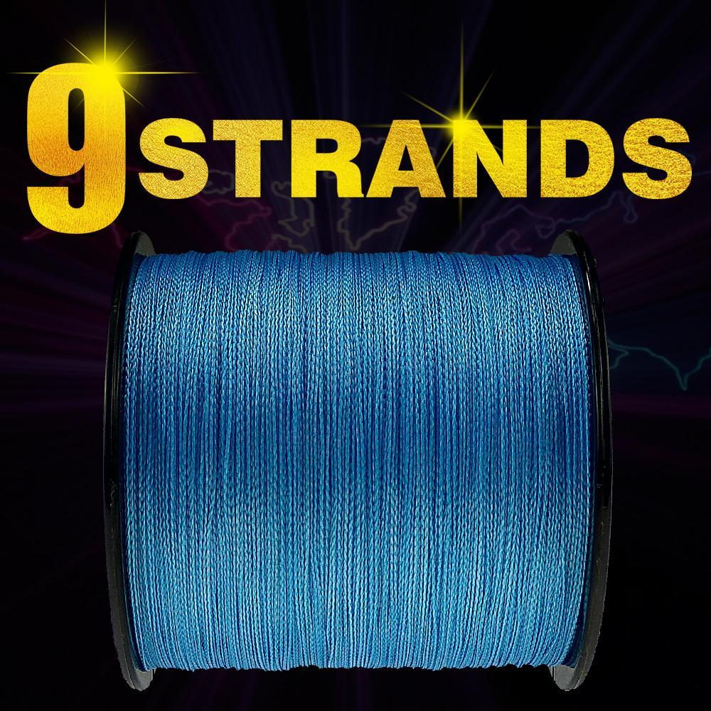 Frwanf 100M 109Yards 9 Strands Japan Multifilament Pe Braided Fishing Line-Frwanf Official Store-White-1.5-Bargain Bait Box
