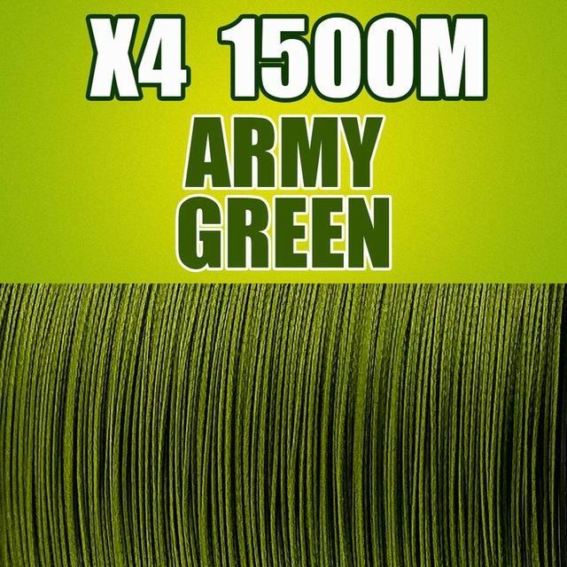 Frwanf 1500M 4 Braid Pe Braided Fishing Line Army Green Hengelsport-Frwanf Official Store-Army Green-0.4-Bargain Bait Box