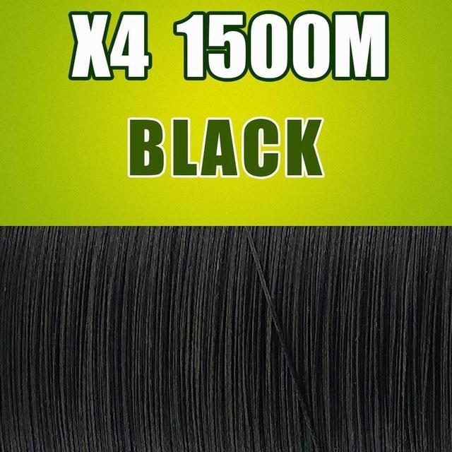 Frwanf 1500M 4 Braid Pe Braided Fishing Line Army Green Hengelsport-Frwanf Official Store-Black-0.4-Bargain Bait Box