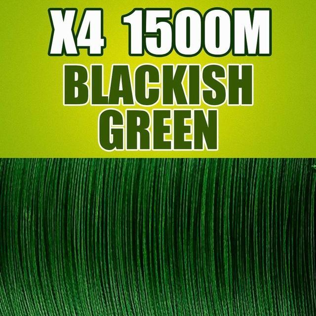Frwanf 1500M 4 Braid Pe Braided Fishing Line Army Green Hengelsport-Frwanf Official Store-Blackish Green-0.4-Bargain Bait Box