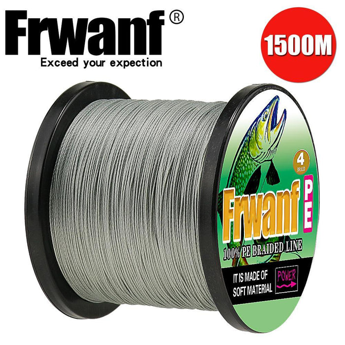 Frwanf 1500M 4 Braid Pe Braided Fishing Line Army Green Hengelsport-Frwanf Official Store-White-0.4-Bargain Bait Box