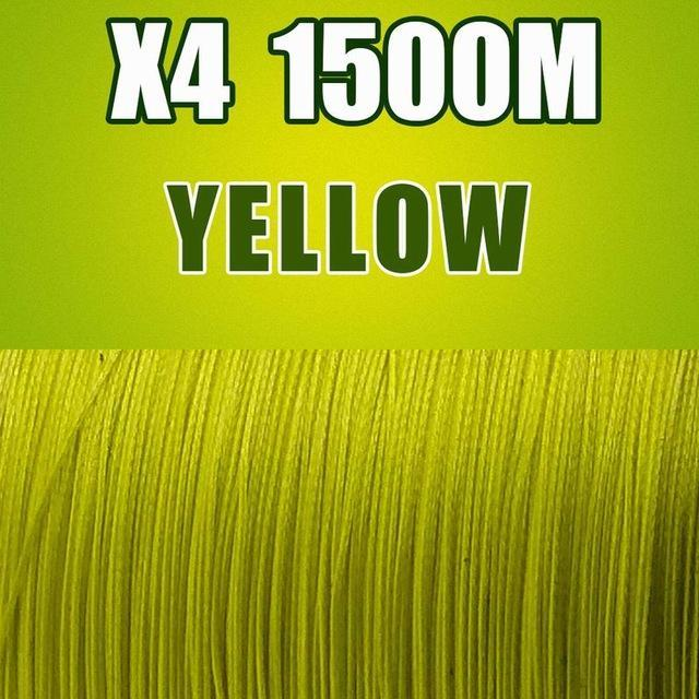 Frwanf 1500M 4 Braid Pe Braided Fishing Line Army Green Hengelsport-Frwanf Official Store-Yellow-0.4-Bargain Bait Box