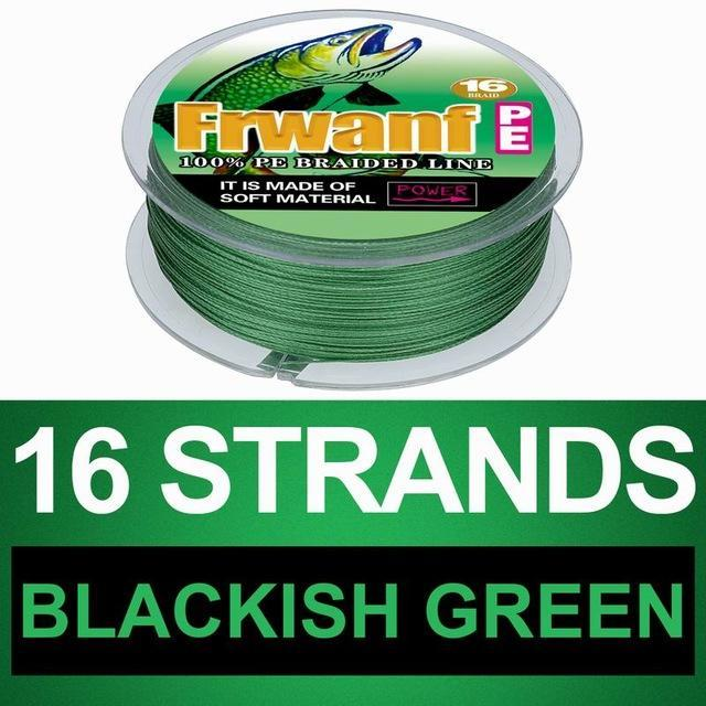 Frwanf 16 Braid Braided Fishing Line Braided 500M Japan 16 Strand Strong-Frwanf Official Store-Blackish Green-1.0-Bargain Bait Box
