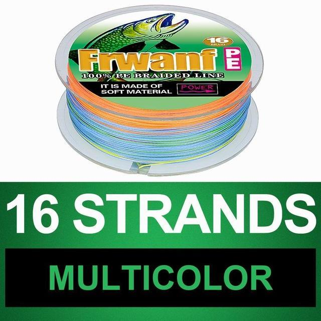 Frwanf 16 Braid Braided Fishing Line Braided 500M Japan 16 Strand Strong-Frwanf Official Store-Multicolor-1.0-Bargain Bait Box
