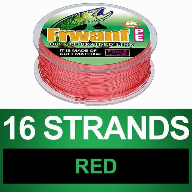 Frwanf 16 Braid Braided Fishing Line Braided 500M Japan 16 Strand Strong-Frwanf Official Store-Red-1.0-Bargain Bait Box
